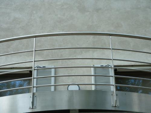 Balconata in acciaio
