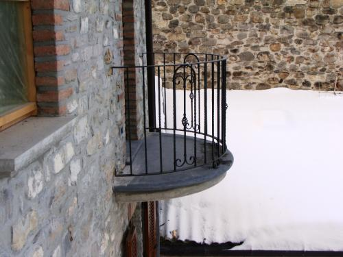 Ringhiera per balcone tondo